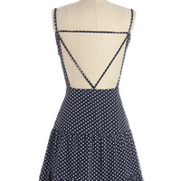 ModCloth Festival Mid-length Spaghetti Straps Drop Waist Fanciful Meeting You Here Dress