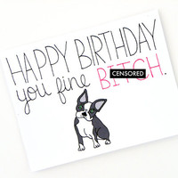 Funny Birthday Card - Adult Card - Dog Birthday