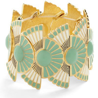 ModCloth Vintage Inspired Loyal Fanfare Bracelet in Mint