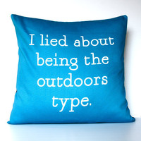 decorative pillow I Lied About Being The by mybeardedpigeon