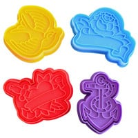 Retro Tattoo Cookie Cutter Set