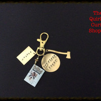 Stephen King The Shining Miniature Book hand Stamped Keychain