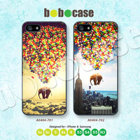 Flying Elephant, Air Balloon, iPhone 5 case, iPhone 5C Case, iPhone 5S case, iPhone 4 Case, Phone Case, Phone Skin, Samsung Galaxy S4, A0404