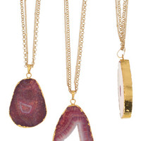 24K Gold Plated Brazilian Druzy Necklace