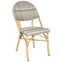 Gray Rivoli Stackable Side Chairs, Pair