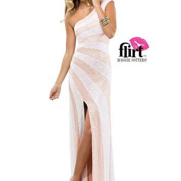 Flirt by Maggie Sottero P4814 Sparkly One Shoulder Website Special