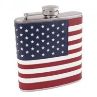 Old Glory American Flag Flask