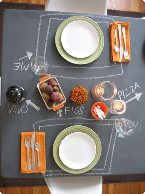 Chalkboard Tables - Chalkboard Paint Turns Boring Furniture Into Childhood Fun (GALLERY)