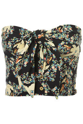 Swan Print Tie Bandeau - New In This Week - New In - Topshop