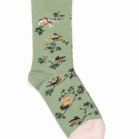 BONNE MAISON BIRD BRANCH SOCKS - WOMEN - BONNE MAISON - OPENING CEREMONY