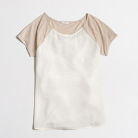 Factory silky panel tee - Knits & Tees - FactoryWomen's New Arrivals - J.Crew Factory