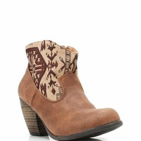 printed cowgirl booties &amp;#36;29.10 in BLACK COGNAC TAUPE - New Shoes | GoJane.com