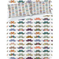 &quot;Mustache Mania&quot; Sheet Set by Bianca Green | DENY Designs
