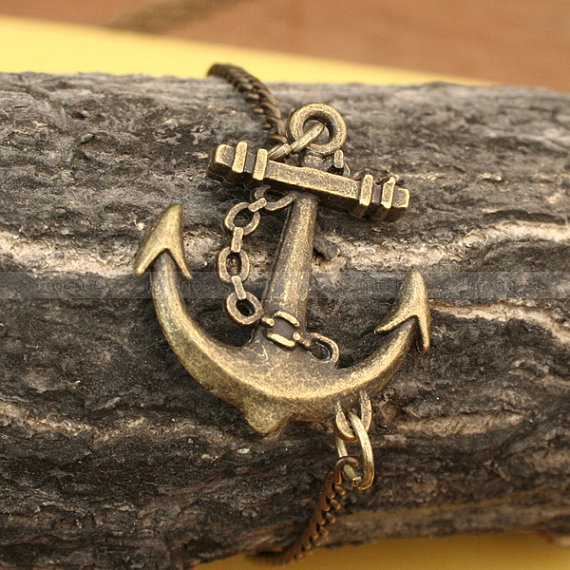 Anchor Charm Bracelet  antique brozen anchor for gifts by mosnos
