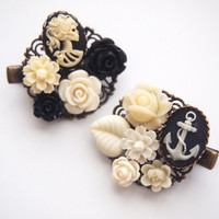 glamasaurus ♥Kawaii Cute Sweet Jewelry + Accessories ♥ — Cameo Cluster Clips