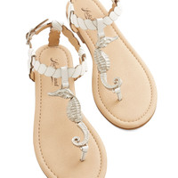 Lucky Nautical Hold Your Seahorses Sandal