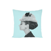 Audrey Hepburn Cute Pillow by zzzAfternoon on Etsy