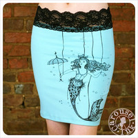 Mermaid Pencil Skirt- etsy