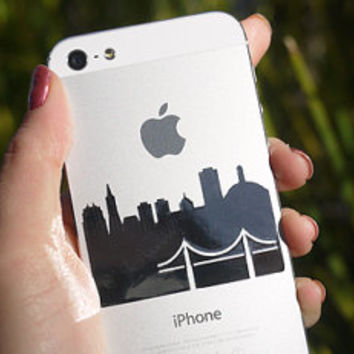iPhone Decal Mirror - San Francisco Skyline