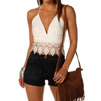 Halter Crochet Crop