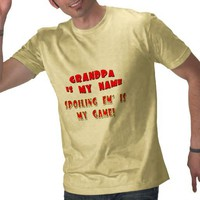 Spoiling Them Grandpa Fathers Day Gifts T Shirt from