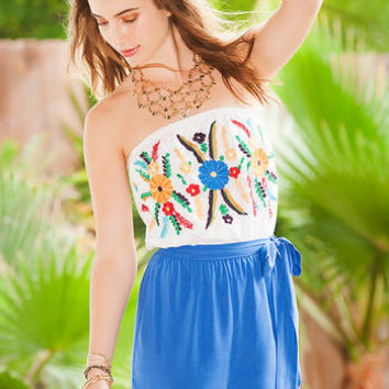 ACAPULCO EMBROIDERED ROMPER
