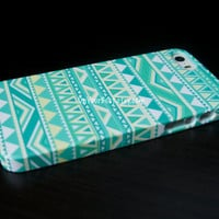 Mint Geometric Aztec Tribal iPhone Case Cover, iPhone 5s Case , iPhone 5 , iPhone 5c Case ,iPhone 4 ,iPhone 4s ,Samsung Galaxy S4 Case