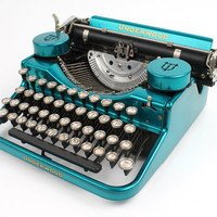 Hot-Rodded Typewriter -- Underwood Standard Portable in Candy Teal