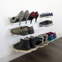 Horizontal Shoe Rack - White