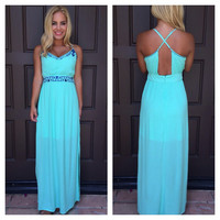 Aquadisiac Embroider Maxi Dress