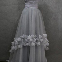 Custom Make Flower Wedding Dress Bridal Gown Formal Cocktail Dresses | Thatshop - Clothing on ArtFire