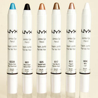 NYX Crayon Jumbo Eye Pencil Collection Set of 6 - Use as Shadow, Liner & Shadow Base Net Wt. 0.18 0z. 5g