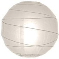 "14"" White Irregular Ribbed Paper Lantern"