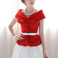 Red Ruffles Jacket/Top