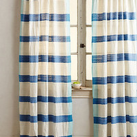 Sanaga Stripe Curtain by Anthropologie Blue
