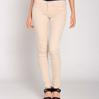 Flying Monkey L7422 Color Palette Skinny Jeans in Tan