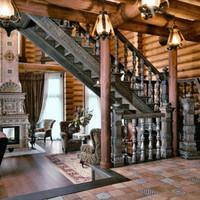 Luxury Siberian House Classic Interior Decor