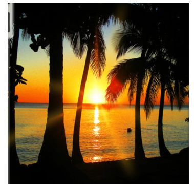 Bright Sunset on Exotic Beach By BluedarkArt for Apple iPad 3