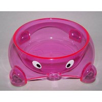 Pink Imitation Crystal Feed Bowl - Small
