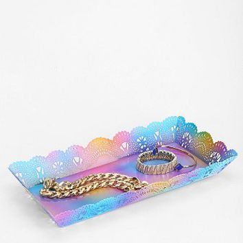 Plum & Bow Rainbow Lace Tray- Multi One