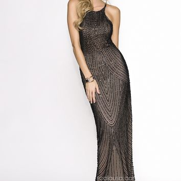 Scala 47678 High Neck Gown