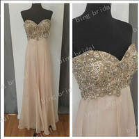 draped Charming dress sexy Rhinestone Glamorous sweetheart strapless, Off-the-shoulder Bridesmaid Dress Evening Dress Prom Dress 2014