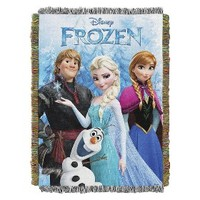 Disney Frozen Tapestry Throw Blanket - Anna/Elsa/Kristoff