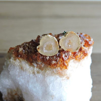 Orange and Yellow Geode Studs. Miniature Stone Geode Earrings. Raw Orange Druzy Post. Petite Natural Tabasco Geodes