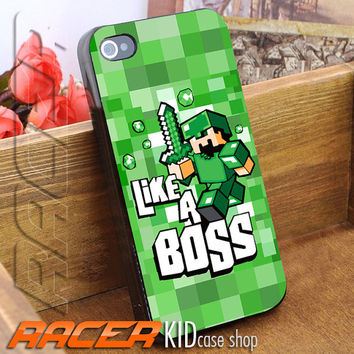 Mine Craft Like A Boss for iPhone 4/4s/5/5s/5c - iPod 2/4/5 - Samsung Galaxy s2/s3/s4/s5 Case