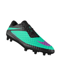 Nike HYPERVENOM Phantom FG iD Custom Men's Firm-Ground Soccer Cleats - Black