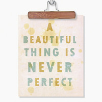 Inspirational Typography Art Poster A Beautiful by LisaBarbero