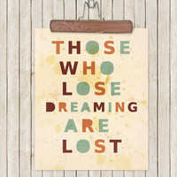 Inspirational Typography Print For Dreamers by LisaBarbero