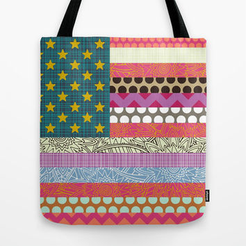 US Beauty flag Tote Bag by Sharon Turner | Society6