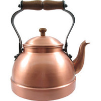 Tea Kettle (Satin Finish Decor Copper) - CopperGifts.com